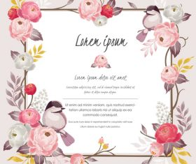 Backgrounds with flower decoration frame vector