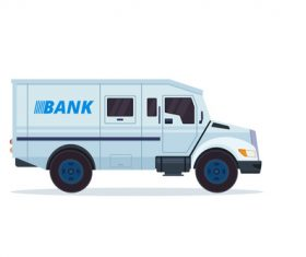 Bank security vehicle vector