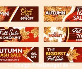 Banner autumn flash sale vector
