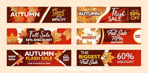 Banner autumn flash sale vector