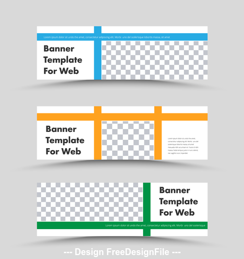 Banner template for wed vector
