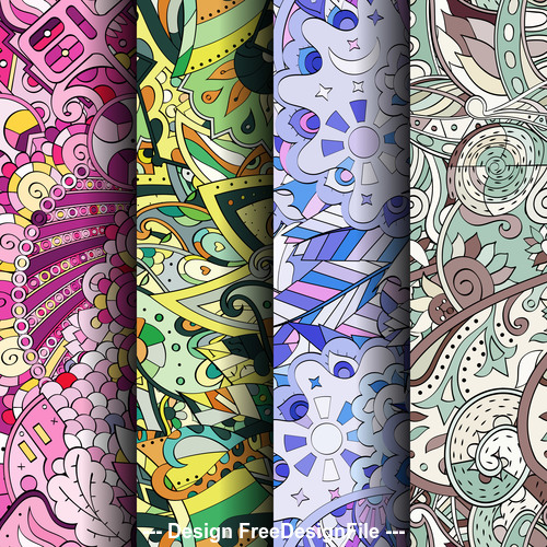 Banner tracery background vector