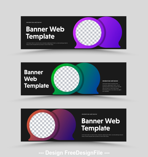 Banner wed template vector