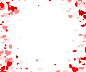 Beautiful valentine hearts vector