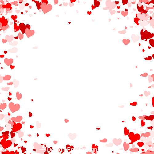 Beautiful valentine hearts vector