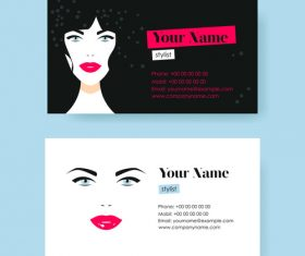 Beauty business card design vector
