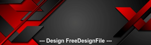 Black and red geometric corporate banner design vector