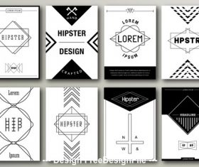 Black and white cover template vector