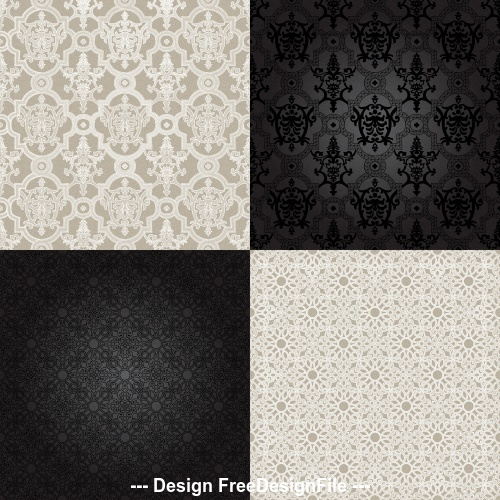 Black and white textured pattern background vector