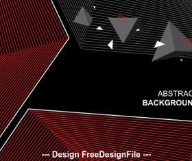Black background and geometric pattern vector