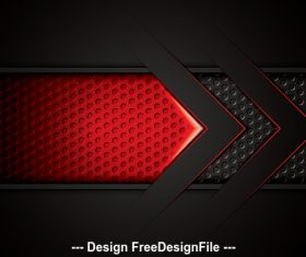 Black background and red arrow vector