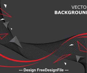 Black background and red lines vector