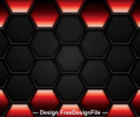 Black hexagon checkered background vector