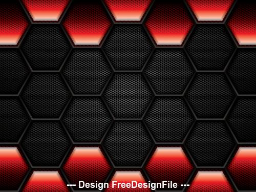 Black hexagon checkered background vector