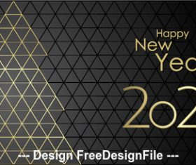 Black mesh background 2020 happy christmas vector