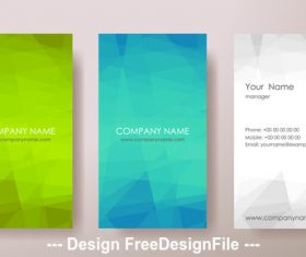 Blue and green and white geometric pattern banner design vector
