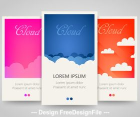 Blue and pink and red vertical banners vector