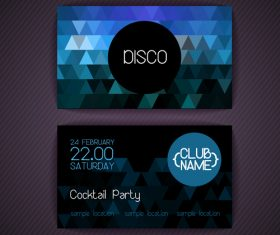Blue background disci party flyer vector