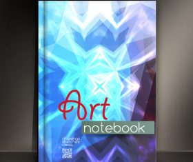 Blue background notebook cover vector