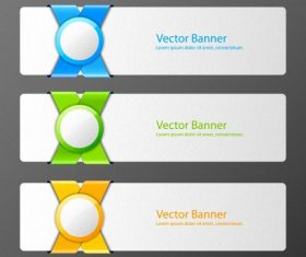 Blue green yellow banner vector