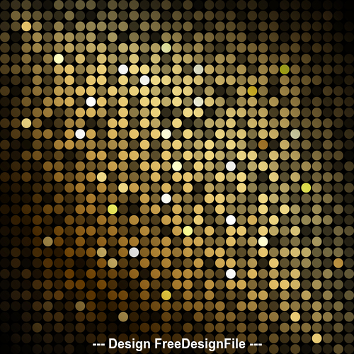 Bright background mosaic from gold particles vector 01