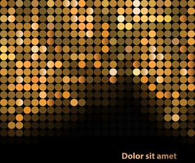 Bright background mosaic from gold particles vector 02