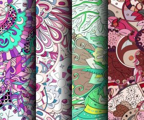 Bright color wallpaper seamless patterns vector