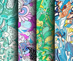 Bright wallpaper seamless patterns vector