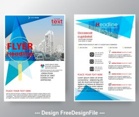 Brochure flyer design layout vector template