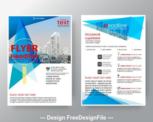 Brochure flyer design layout vector template