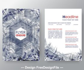 Brochure flyer design vector