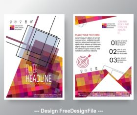 Brochure geometric pattern flyer design vector