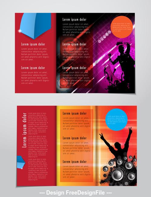 Brochure layout banner vector