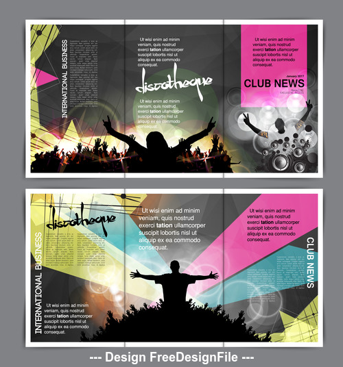 Brochure layout for banner vector
