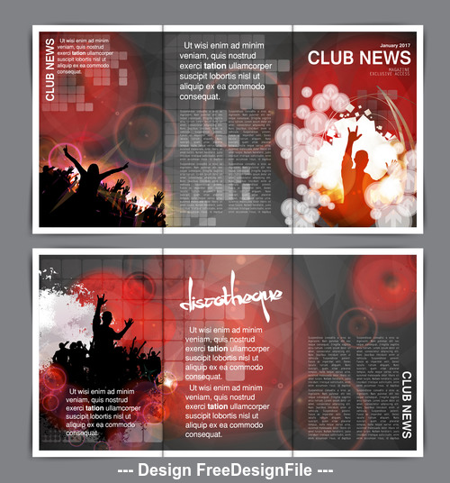 Brochure layout for club banner vector