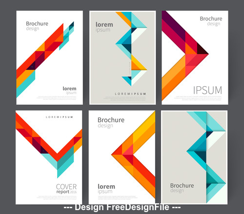 Broshure cover template vector