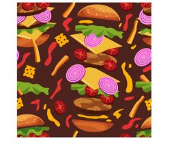 Burger frenzy pattern vector