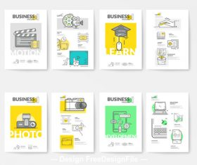 Business brochure cover template vector