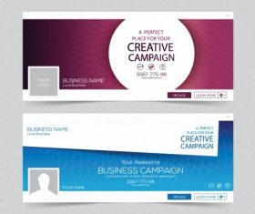 Business campaign banner vector