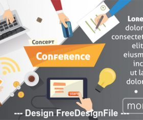 Business conference template illustration vector