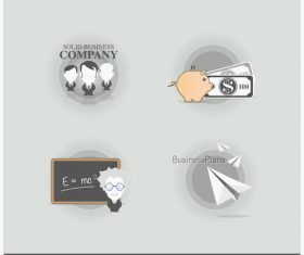 Business different labels vector