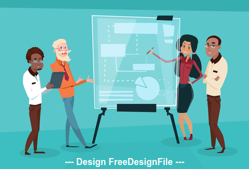 Business explanation template illustration vector