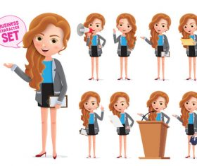 Business lady speech illustration vector
