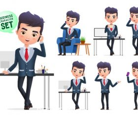 Business man cartoon illustration vector