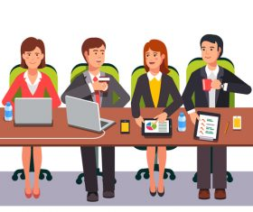 Business meeting template illustration vector