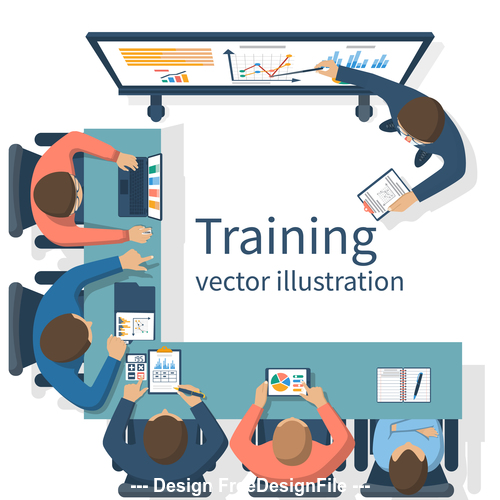 Business training vector illustration