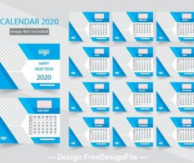 Calend design 2020 vector