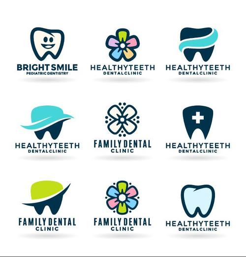Care for the teeth Icons vector