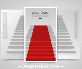 Career ladder vertical banners vector