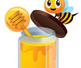 Cartoon hardworking bee vector
